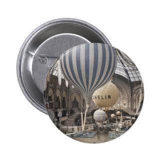 Retro Vintage Hot Air Balloon 6 Cm Round Badge