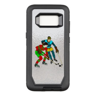 Retro Vintage Ice Hockey Players Old Comics Style OtterBox Defender Samsung Galaxy S8 Case