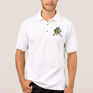 Retro Vintage Ice Hockey Players Old Comics Style Polo Shirt