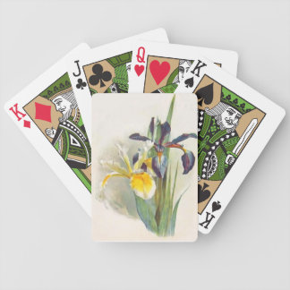 Retro Vintage Irises Playing Cards Bicycle Playing Cards