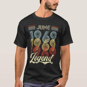b090631b Retro Vintage June 1969 Legend 50th Birthday T-Shirt