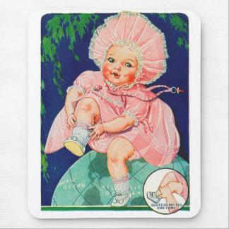 Retro Vintage Kitsch 30s Toy Doll Precious Mouse Pad