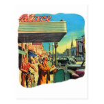 Retro Vintage Kitsch 40s Main Street 1940 Post Cards