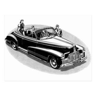 Retro Vintage Kitsch 40s Viintage Automobile Postcard