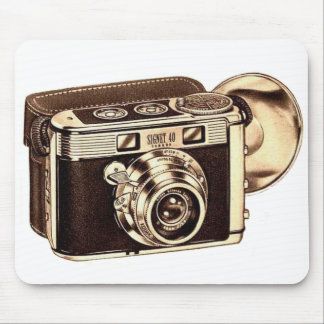 Retro Vintage Kitsch 50s 35mm Camera Mouse Pad