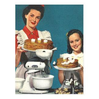 Retro Vintage Kitsch 50s Cookbook Homemaker Postcard