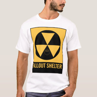 Retro Vintage Kitsch 50s Fallout Shelter Sign T-Shirt