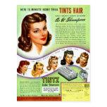 Retro Vintage Kitsch 50s Tintz Haircolor Ad Postcards