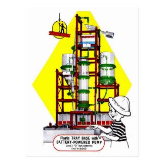 Retro Vintage Kitsch 50s Toy Build a Pump Set Postcard