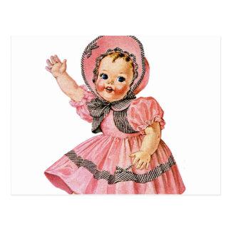 Retro Vintage Kitsch 50s Toy Doll 'Walks & Talks' Postcard