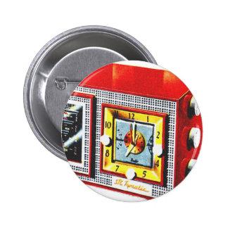 Retro Vintage Kitsch 50s Tymatic Clock Radio Set Pin