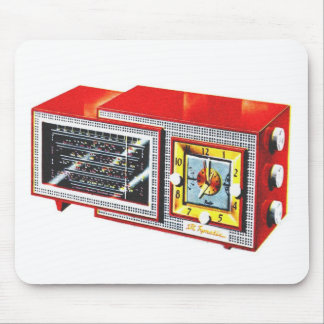 Retro Vintage Kitsch 50s Tymatic Clock Radio Set Mouse Pad