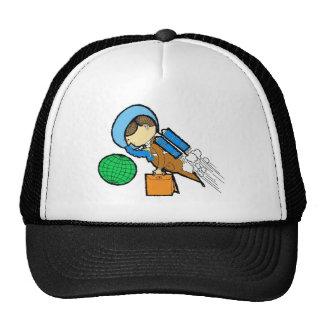 Retro Vintage Kitsch 60s Space Office Traveler Man Trucker Hat