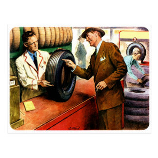 Retro Vintage Kitsch Ad Advertisment Swell Tires Postcard