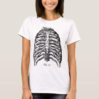 Retro Vintage Kitsch Anatomy Medical Rib Cage T-Shirt