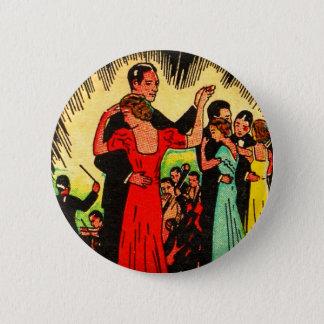 Retro Vintage Kitsch Ballroom Dancers 6 Cm Round Badge