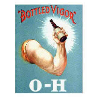 Retro Vintage Kitsch Brew Beer Malt Bottled Vigor Postcard