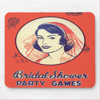 Retro Vintage Kitsch Bridal Shower Party Games Mousepads