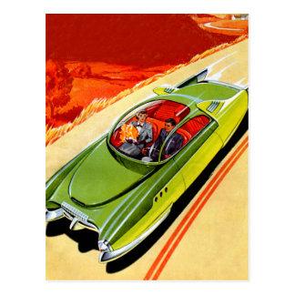 Retro Vintage Kitsch Car Kaiser Frasier Concept Postcard