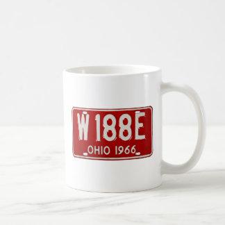 Retro Vintage Kitsch Car License Plate Ohio 1966 Mugs