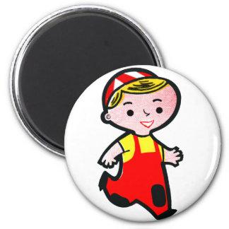 Retro Vintage Kitsch Cartoon Ad Icon Boy 'Junior' Refrigerator Magnets