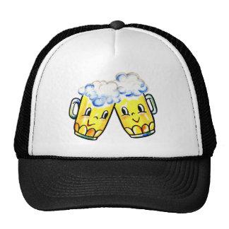 Retro Vintage Kitsch Cartoon Beer Lovers Mugs Hats