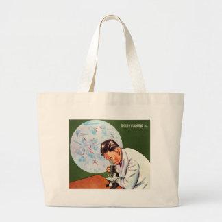 Retro Vintage Kitsch Chinese Germ Scientist Tote Bags