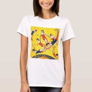 Retro Vintage Kitsch Circus Trapeze Artists T-Shirt
