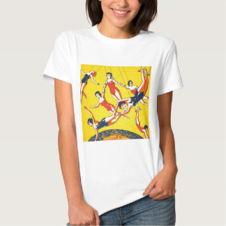 Retro Vintage Kitsch Circus Trapeze Artists Tees