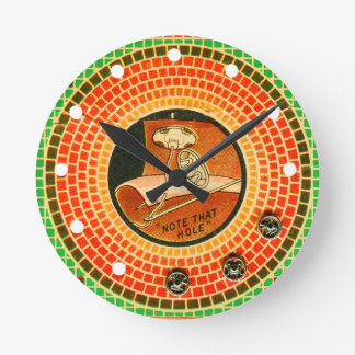 Retro Vintage Kitsch Cloth Sewing Deco Package Wallclock