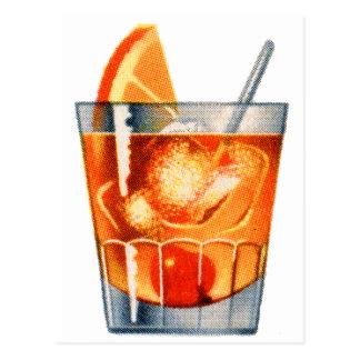 Retro Vintage Kitsch Cocktail Drink Old Fashioned Postcard