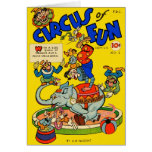 Retro Vintage Kitsch Comic Book Circus of Fun