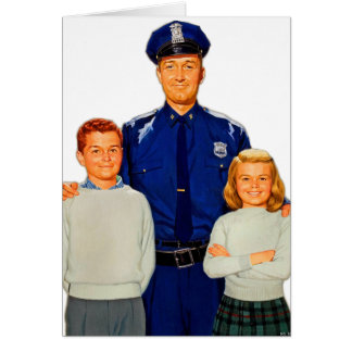 Retro Vintage Kitsch Cop Police Are Your Friends Card