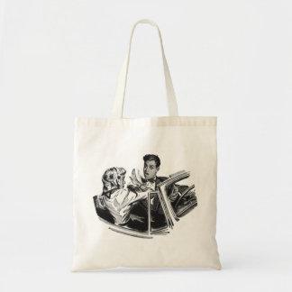 Retro Vintage Kitsch Dating Don't Get Fresh! Budget Tote Bag
