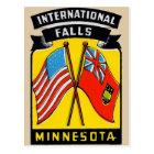 Retro Vintage Kitsch Decal International Falls MN Postcard