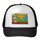 Retro Vintage Kitsch Decal North Carolina Pin Up Mesh Hats