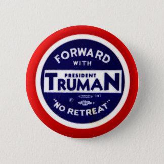 Retro Vintage Kitsch Democrats Forward With Truman 6 Cm Round Badge