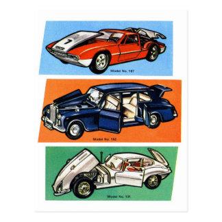 Retro Vintage Kitsch Diecast 60s Toy Cars Postcard