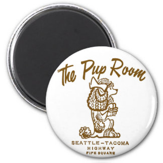 Retro Vintage Kitsch Diner 'The Pup Room' Magnet