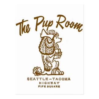 Retro Vintage Kitsch Diner 'The Pup Room' Postcard