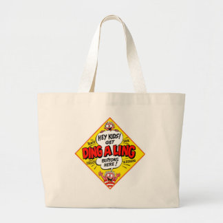Retro Vintage Kitsch Ding-a-Ling Butons Canvas Bag
