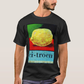 Retro Vintage Kitsch Dutch Alpahbet ci-troen Lemon T-Shirt