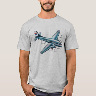 Retro Vintage Kitsch Fifties Prop Airplane T-Shirt