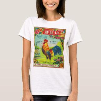 Retro Vintage Kitsch Firecracker Label Rooster T-Shirt