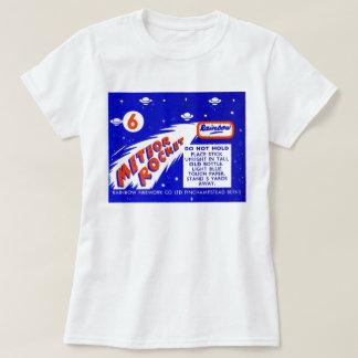 Retro Vintage Kitsch Firework Meteor Rocket T-Shirt