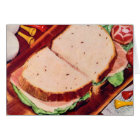 Retro Vintage Kitsch Food Ham on Rye Sandwich Card