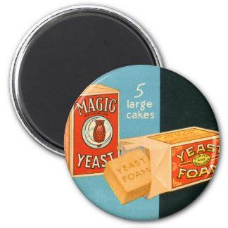 Retro Vintage Kitsch Food Magic Foam Yeast Refrigerator Magnet