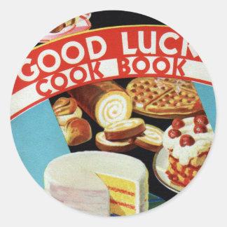 Retro Vintage Kitsch Good Luck Cook Book Margarine Sticker