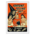 Retro Vintage Kitsch Halloween Fortune Telling Kit Greeting Card