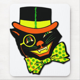 Retro Vintage Kitsch Halloween Hep Cat Daddy Mouse Pad